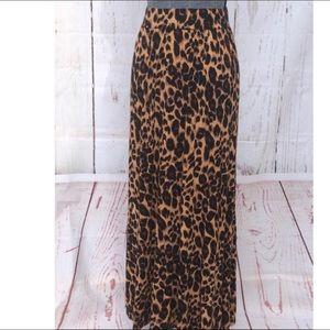Jessica London Leopard Maxi Skirt